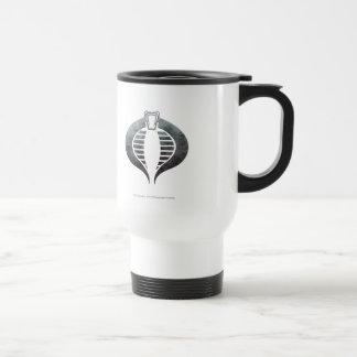 Insignia de plata de la cobra taza de viaje