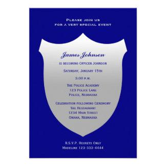 Insignia de plata de las invitaciones de la gradua