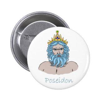 Insignia de Poseidon Pin Redondo 5 Cm