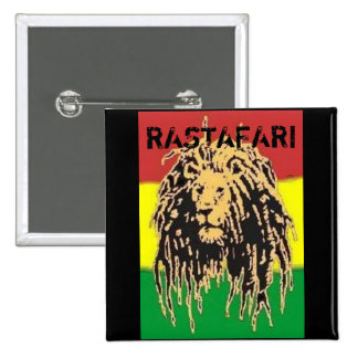 Insignia de Rastafari Pin Cuadrado