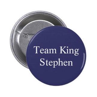 Insignia de rey Stephen del equipo Pin Redondo De 2 Pulgadas