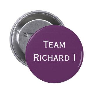Insignia de Richard I del equipo Pin Redondo 5 Cm