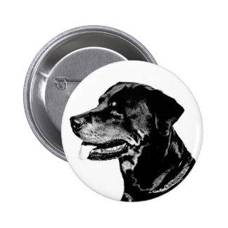 Insignia de Rottweiler Pin Redondo De 2 Pulgadas