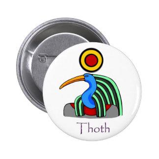 Insignia de Thoth Pin Redondo De 2 Pulgadas