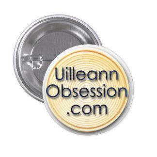 insignia de UilleannObsession.com Pin Redondo De 1 Pulgada
