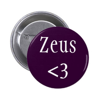 Insignia de Zeus <3 Pin Redondo 5 Cm