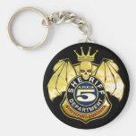 Insignia del área 5 del sheriff llaveros personalizados