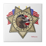 Insignia del ayudante del sheriff azulejos