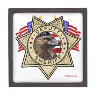 Insignia del ayudante del sheriff cajas de recuerdo de calidad