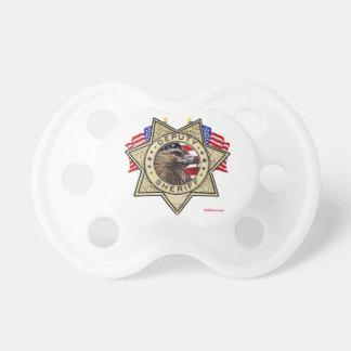Insignia del ayudante del sheriff chupete de bebe