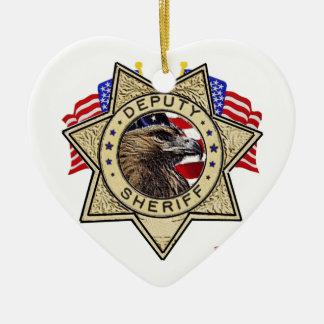Insignia del ayudante del sheriff ornaments para arbol de navidad