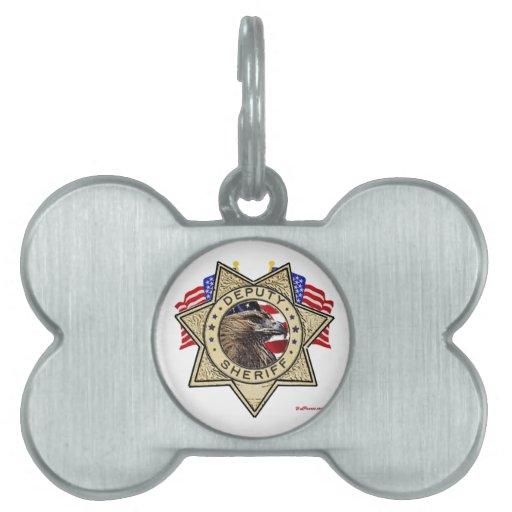 Insignia del ayudante del sheriff placa mascota