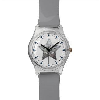 Insignia del ayudante del sheriff relojes de pulsera