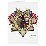 Insignia del ayudante del sheriff tarjeta de felicitación