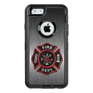 Insignia del bombero de lujo funda OtterBox defender para iPhone 6