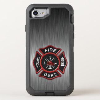 Insignia del bombero de lujo funda OtterBox defender para iPhone 7