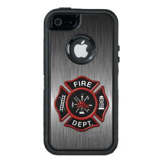 Insignia del bombero de lujo funda otterbox para iPhone 5/5s/SE