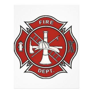 Insignia del bombero plantilla de membrete