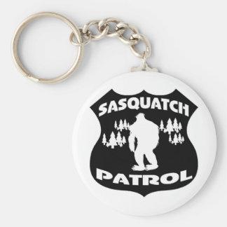 Insignia del bosque de la patrulla de Sasquatch Llaveros Personalizados