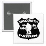 Insignia del bosque de la patrulla de Sasquatch Pin Cuadrado