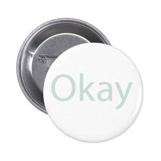 Insignia del botón aceptable pin redondo de 2 pulgadas