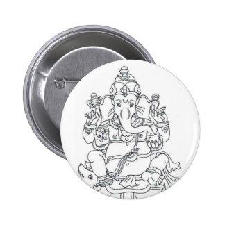 Insignia del botón de Ganesh