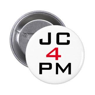 "Insignia del botón de Jeremy Corbyn ""JC para P.M."" Pin Redondo De 2 Pulgadas"