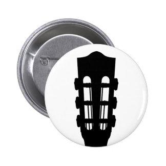 Insignia del botón de la cabeza de la guitarra acú pin redondo de 2 pulgadas