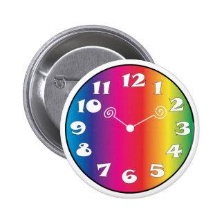 Insignia del botón de la cara de reloj pins