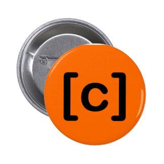 insignia del botón [de la colisión] pins