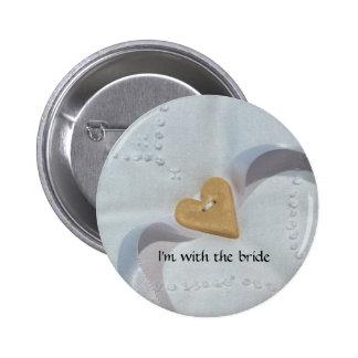Insignia del botón de la huésped del boda pin redondo de 2 pulgadas