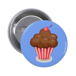 Insignia del botón de la magdalena del chocolate pin redondo de 2 pulgadas