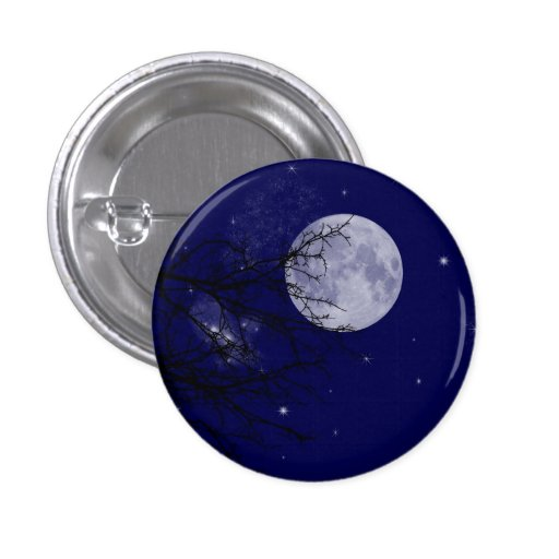Insignia del botón de la opinión de la luna pin redondo de 1 pulgada