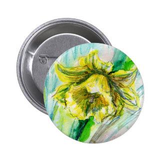 Insignia del botón de la primavera del narciso pin redondo de 2 pulgadas