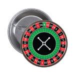 Insignia del botón de la rueda de ruleta pin redondo de 2 pulgadas