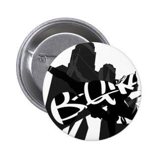 Insignia del botón de la silueta del bailarín NYC  Pin Redondo De 2 Pulgadas