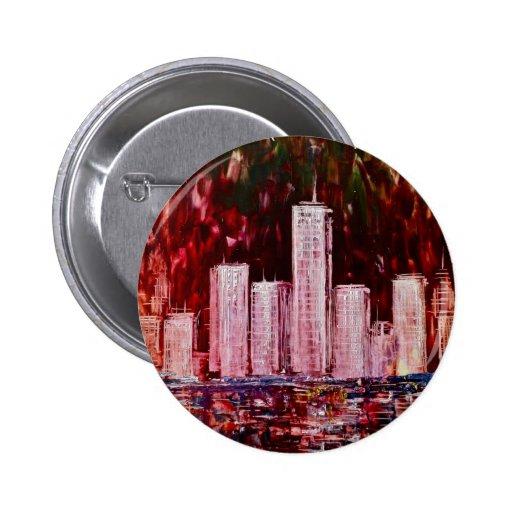 Insignia del botón de los rascacielos de Nueva Yor
