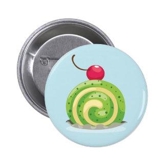 Insignia del botón de Rolls del suizo de la cereza Pin Redondo De 2 Pulgadas