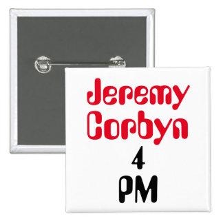 """""""Insignia del botón del 4 de la tarde de Jeremy Pin Cuadrado"""