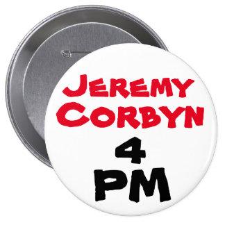 """""""Insignia del botón del 4 de la tarde de Jeremy Pin Redondo De 4 Pulgadas"""