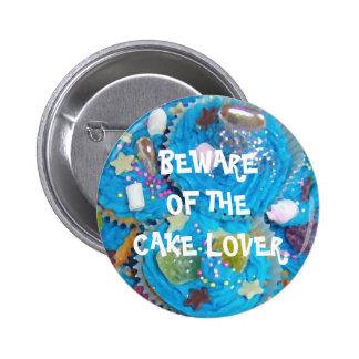 Insignia del botón del amante de la torta de las m pin redondo de 2 pulgadas