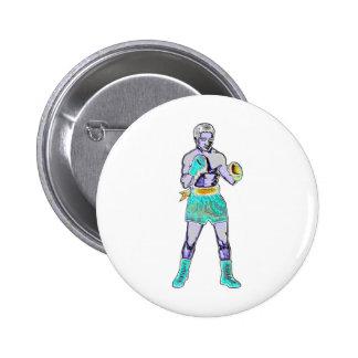 Insignia del botón del boxeador