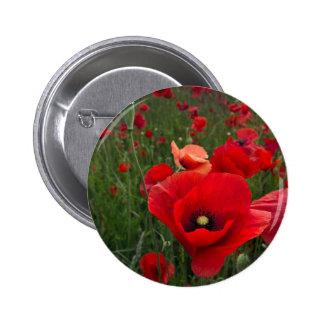 Insignia del botón del campo de la amapola pin redondo de 2 pulgadas