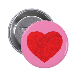 Insignia del botón del corazón del Grunge Pin