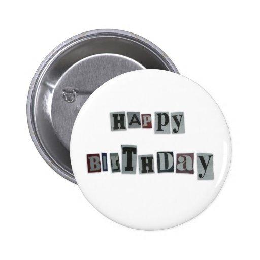 Insignia del botón del feliz cumpleaños pins