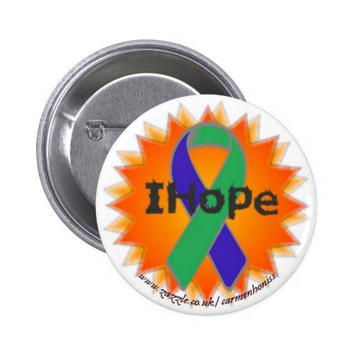 Insignia del botón del fuego de IHope