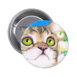 insignia del botón del gato y del lirio de los val pin