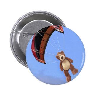 Insignia del botón del oso de peluche de Skydiving Pin