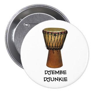 Insignia del botón/del perno de DJEMBE DJUNKIE Pins