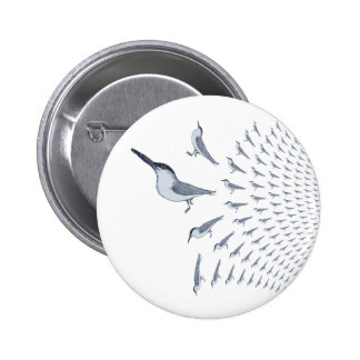 Insignia del botón del Pin del modelo de la golond